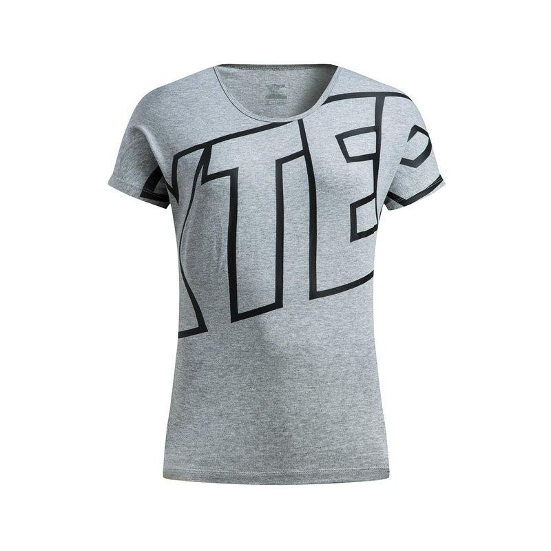 【3件99】【明星同款】特步 女子短袖针织衫春夏款 都市风运动休闲T恤882128019163