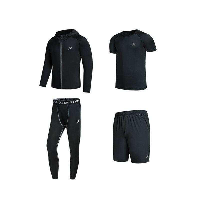 特步 男子运动套装 2018春季轻便运动健身训练装882129989302