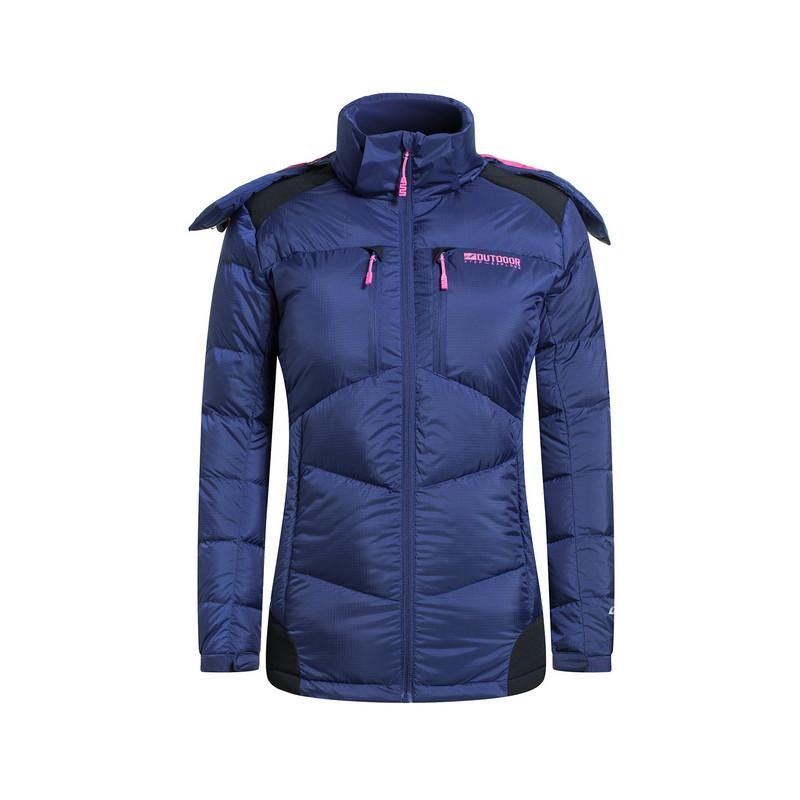 特步 专柜款   冬季新款 长款连帽防风运动休闲羽绒服外套984428190472