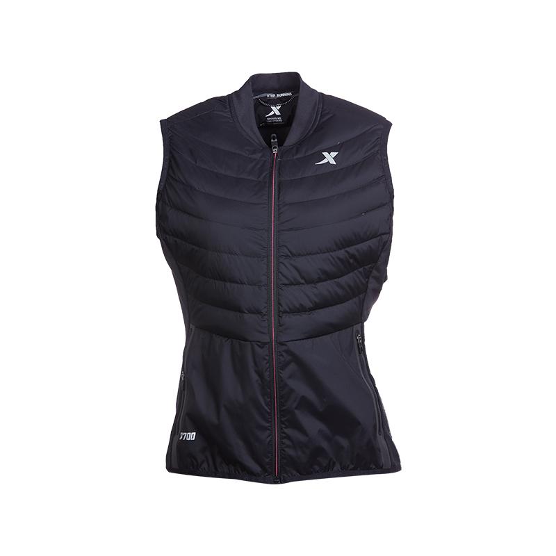 特步 专柜款 女子跑步羽绒马甲 新品保暖轻便羽绒马甲983428260038