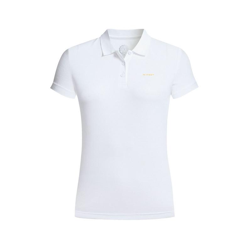 特步 专柜款 女子夏季POLO衫 17新品休闲舒适 女子短袖T恤983228020993