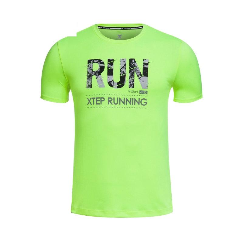 特步 专柜款 夏季新款男士T恤  青春时尚休闲 短袖984229011553