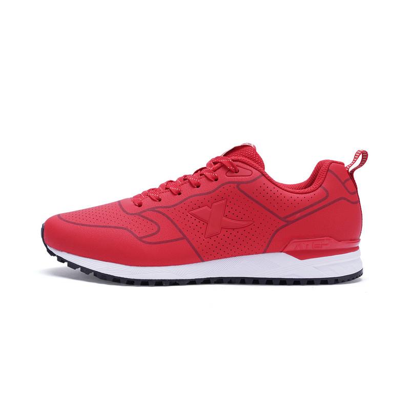 特步 专柜款 男子休闲鞋 革面舒适鞋子982119326283