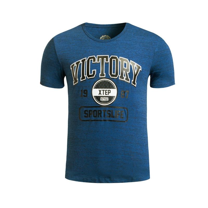 特步 专柜款 男子夏季T恤 新品跑步健身透气 短袖针织衫983229011773