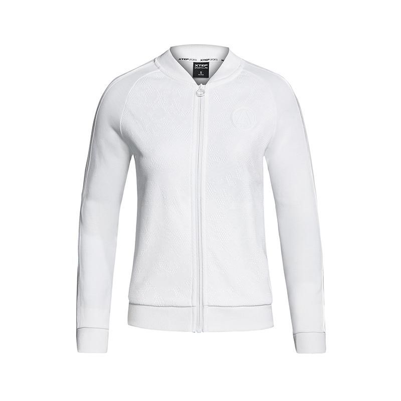 特步 专柜款 女子针织上衣 舒适轻便运动装休闲时尚外套982128061492