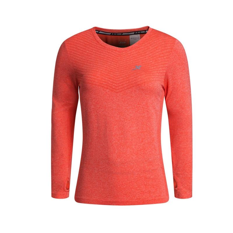 特步 女T恤 春季新款 透气舒适运动女上衣883128039608
