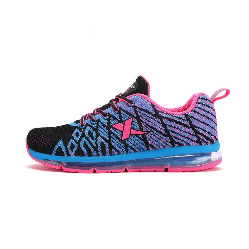 特步 女鞋跑步鞋  夏季新品情侣休闲运动女款跑步鞋983218119386