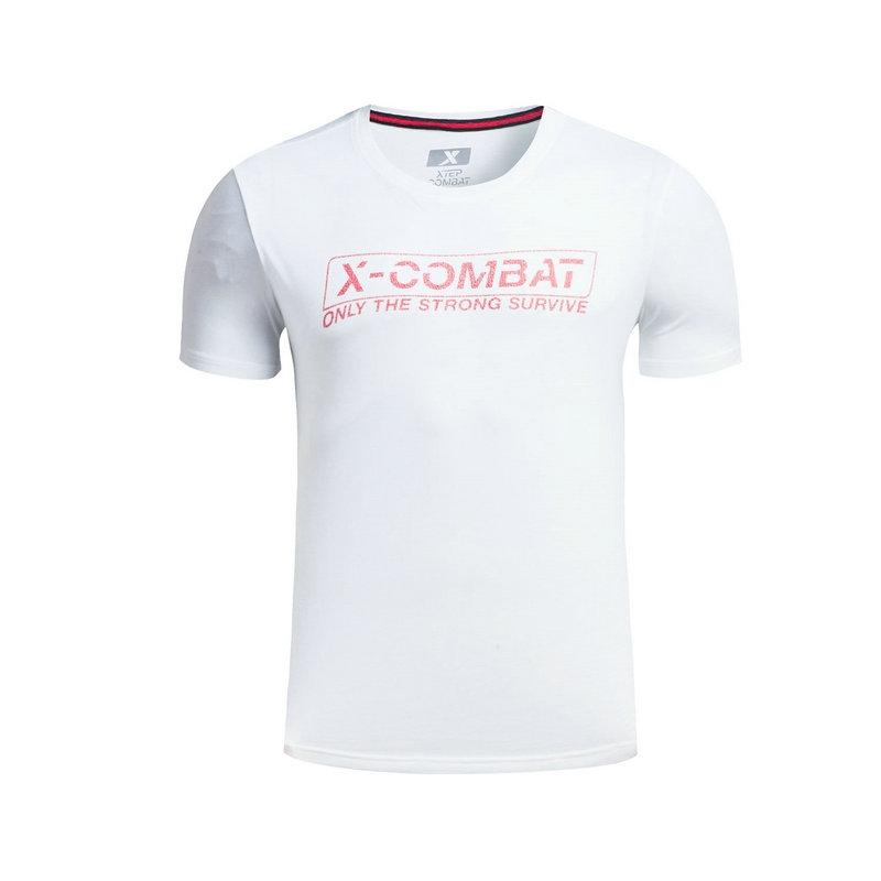 特步 专柜款 男子夏季综训T恤 透气健身运动 短袖针织衫983329011866