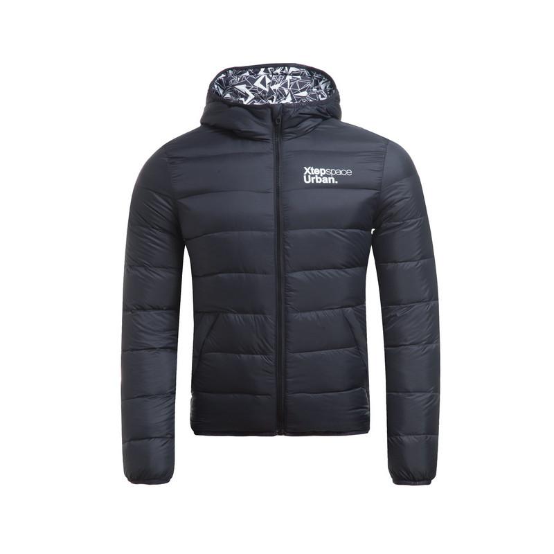 特步 专柜款   男子冬季新款男羽绒服 纯色轻便柔软男外套984429190537