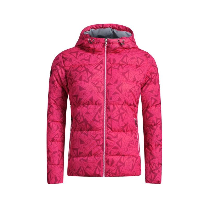 特步 专柜款   冬季女子羽绒服 保暖抗寒 时尚印花连帽外套984428190532