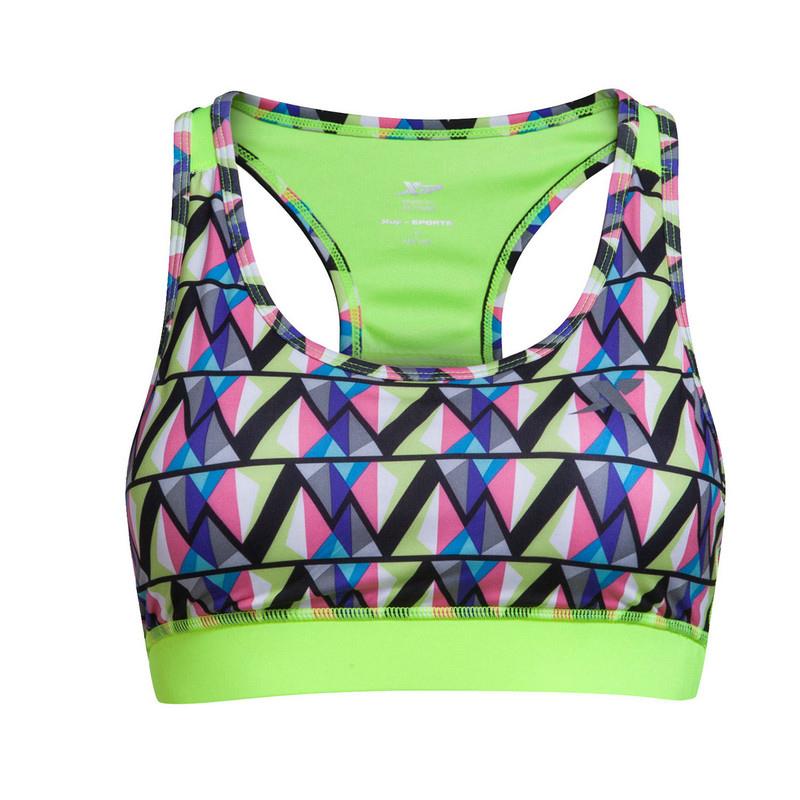 特步 女子夏季胸衣 几何印花运动瑜伽 运动胸衣884228939223