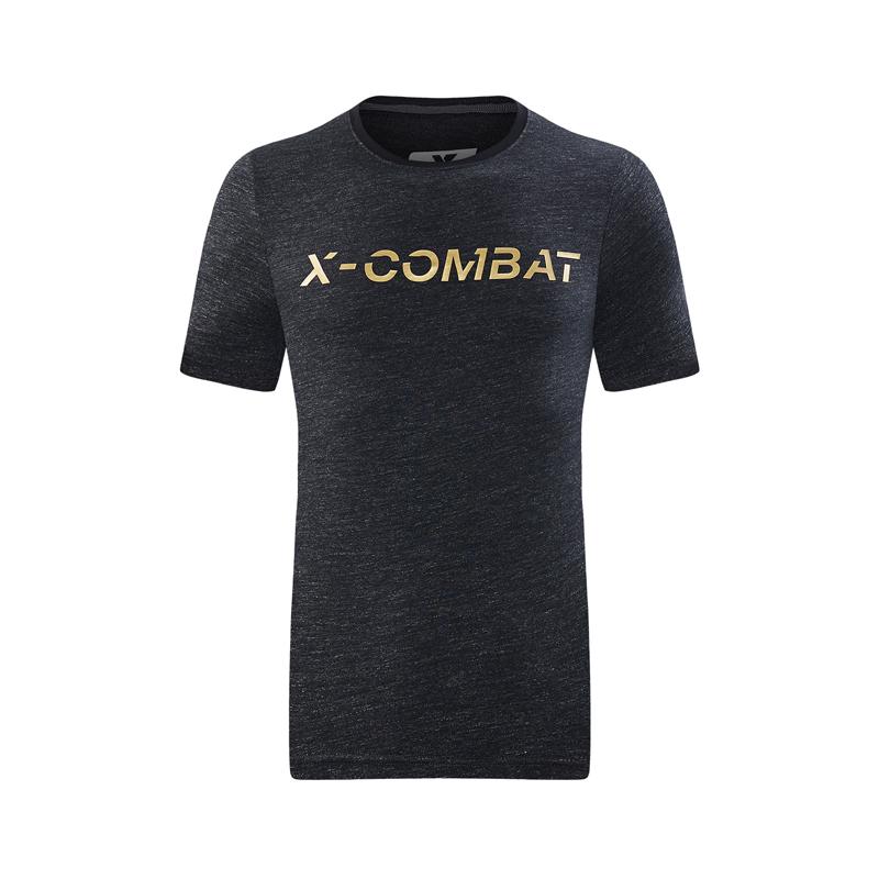 特步 专柜款 男子夏季新款运动健身T恤舒适透气针织衫982229012119