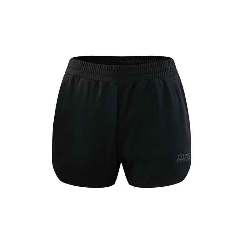 特步 女子针织短裤 运动轻薄针织舒适透气运动健身裤882228609124