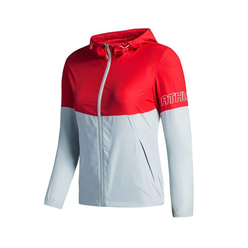 特步 女子时尚单夹克 专柜款舒适运动外套983328110082