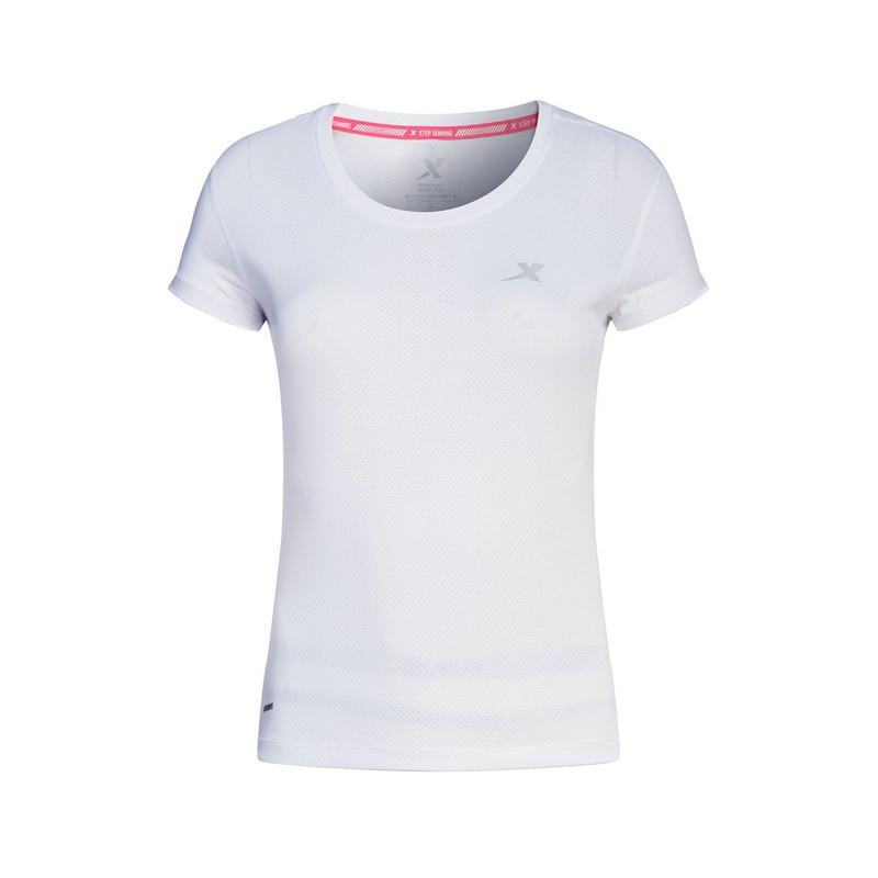 特步 专柜款 女子短袖T恤 吸湿透气跑步运动T恤983128011644