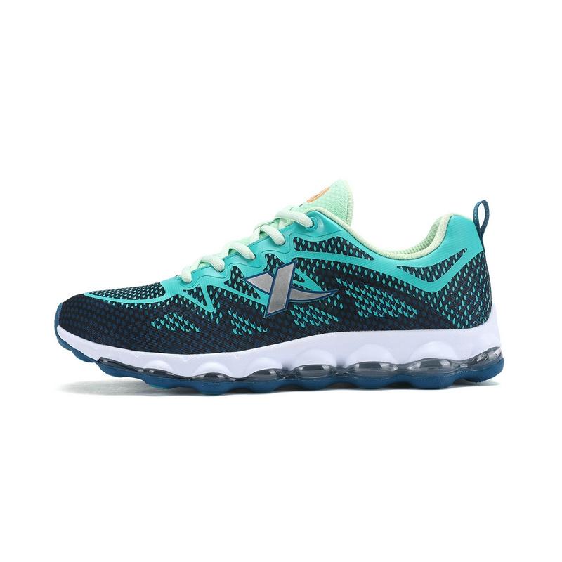 特步 男跑步鞋 情侣款 轻便透气网面气垫男运动鞋983119119201