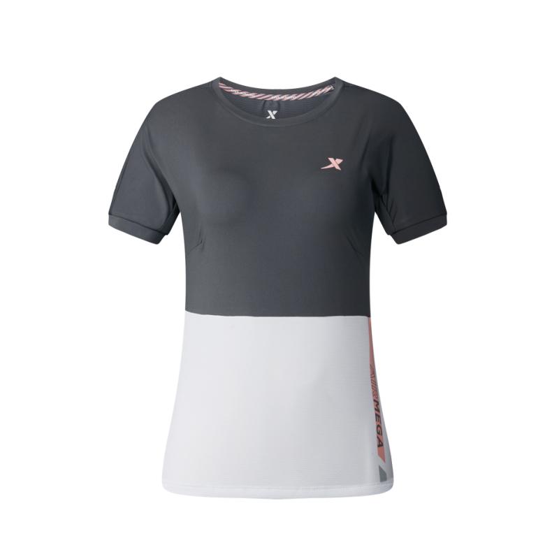 特步 专柜款 女子跑步T恤 马拉松跑步短袖针织衫982128012033