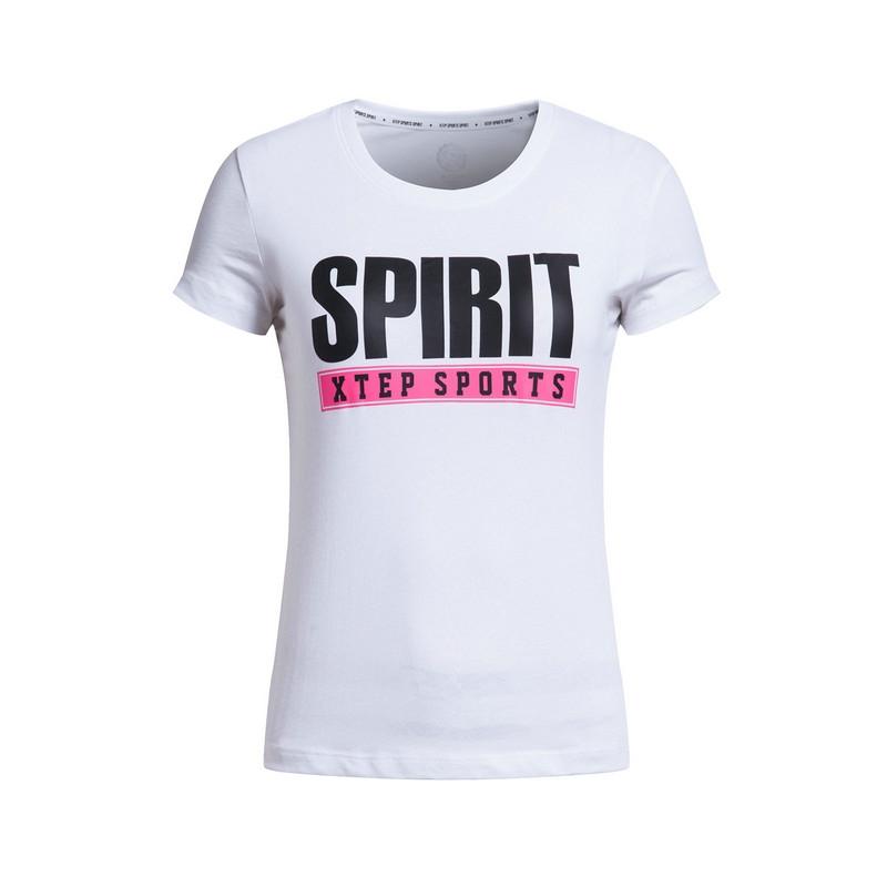 特步 专柜款 女短袖17夏季新品 舒适透气女T恤983228011739
