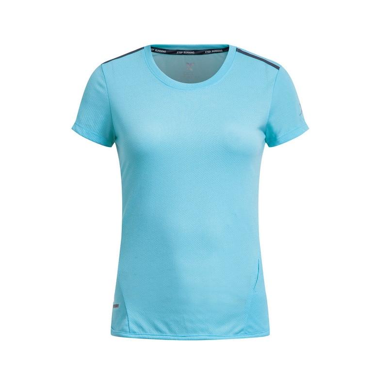 特步 专柜款 女子夏季短袖 17新品 运动透气女T恤983228011810