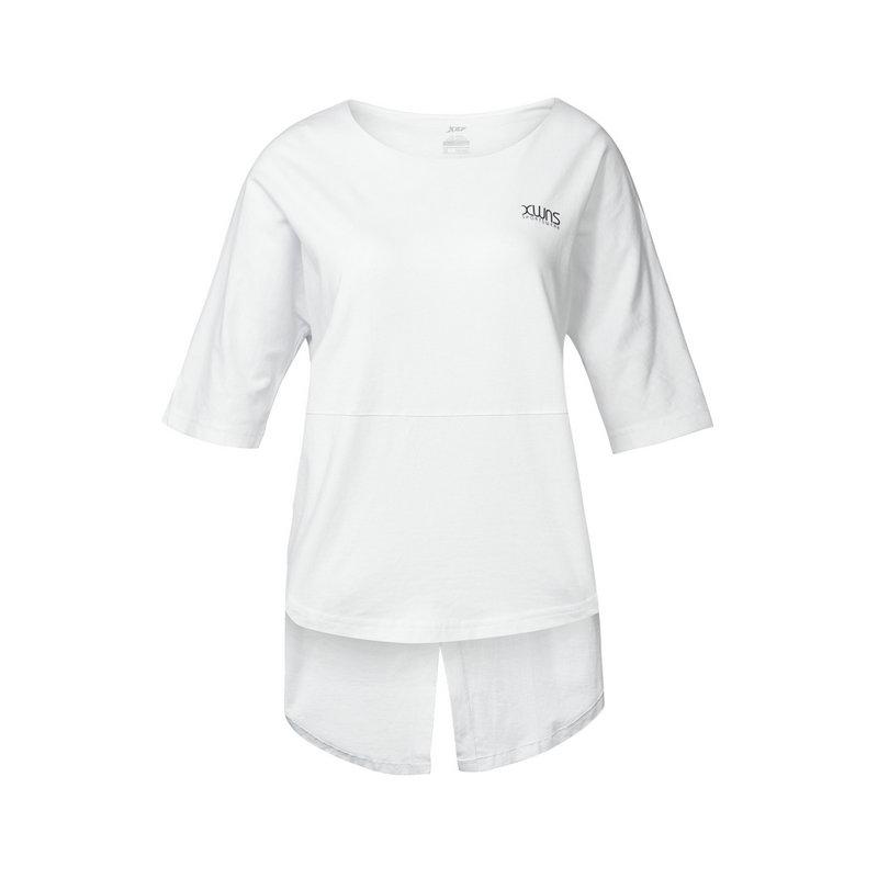特步 女子训练T恤 轻便透气 前短后长运动女装882228019104