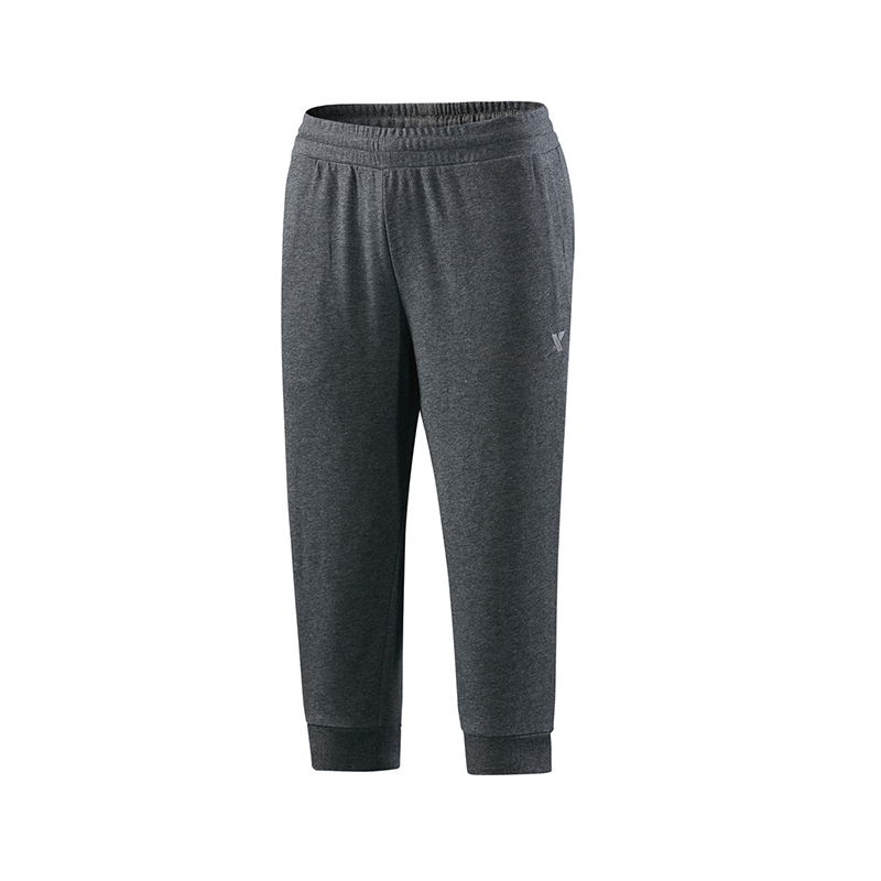 特步 专柜款 男子针织七分裤   综训健身裤子982229620266