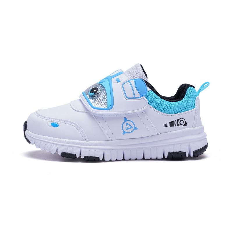 特步 专柜 男童健康鞋 卡通潮酷革面鞋子682115613768