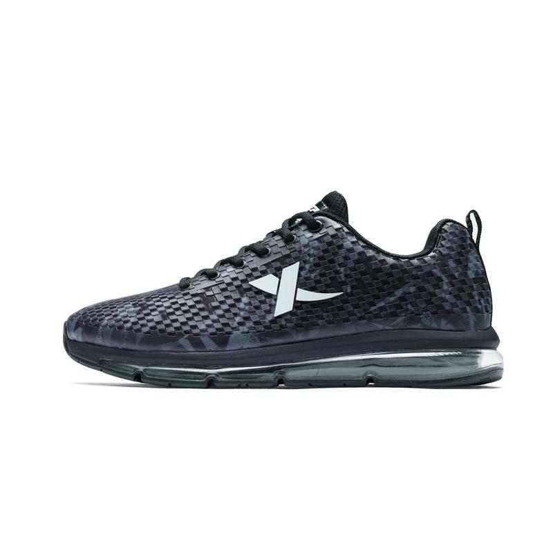 特步 男子跑步鞋秋冬款 时尚运动鞋系带气垫耐磨旅游鞋983419119597