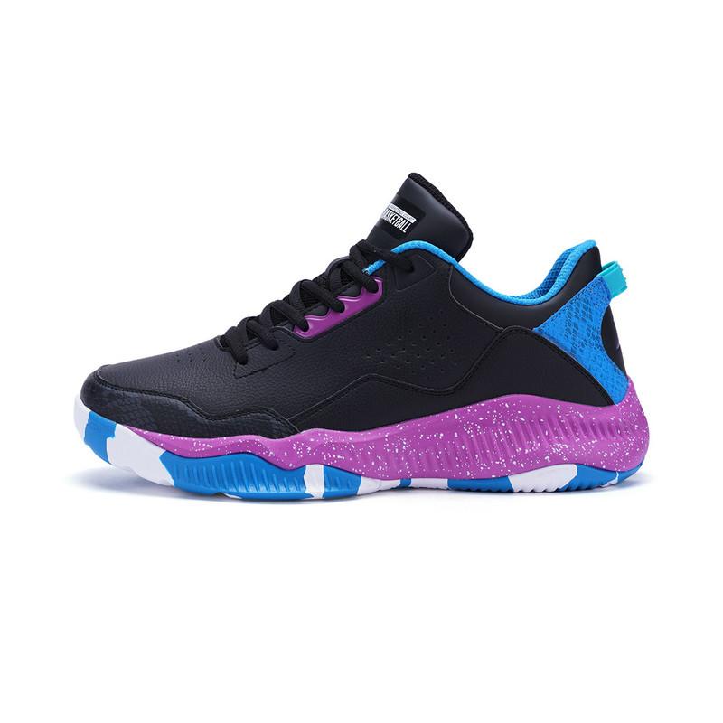 特步 男子篮球鞋 减震耐磨高帮球鞋982119129075