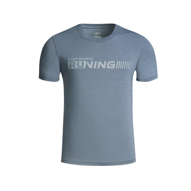 【2件99】特步 男子春夏T恤 跑步运动短袖针织衫882129019157