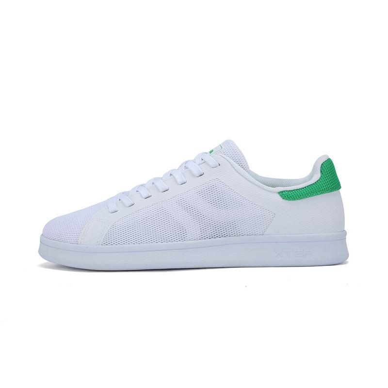 特步 专柜款 男子夏季板鞋 新品网面透气小白鞋板鞋983219315667