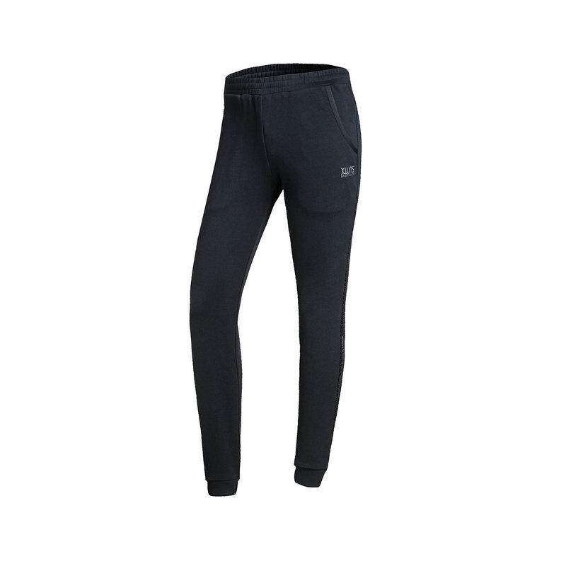 特步 女子针织长裤春季款 训练松紧缩脚修身运动裤882128639108