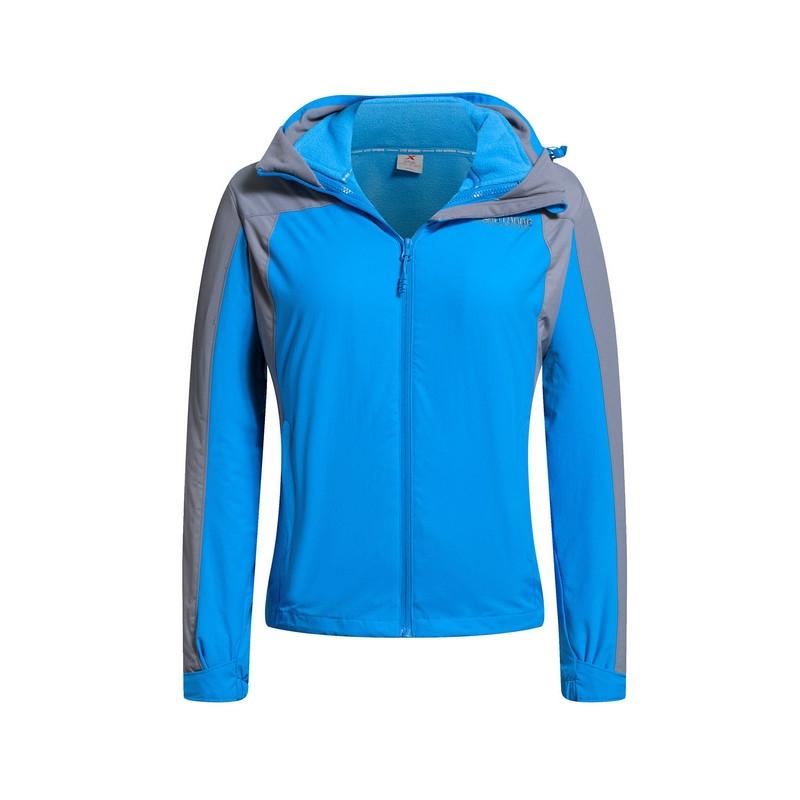 特步 专柜款  女双层户外风衣冬季新品 舒适保暖女外套984428230039