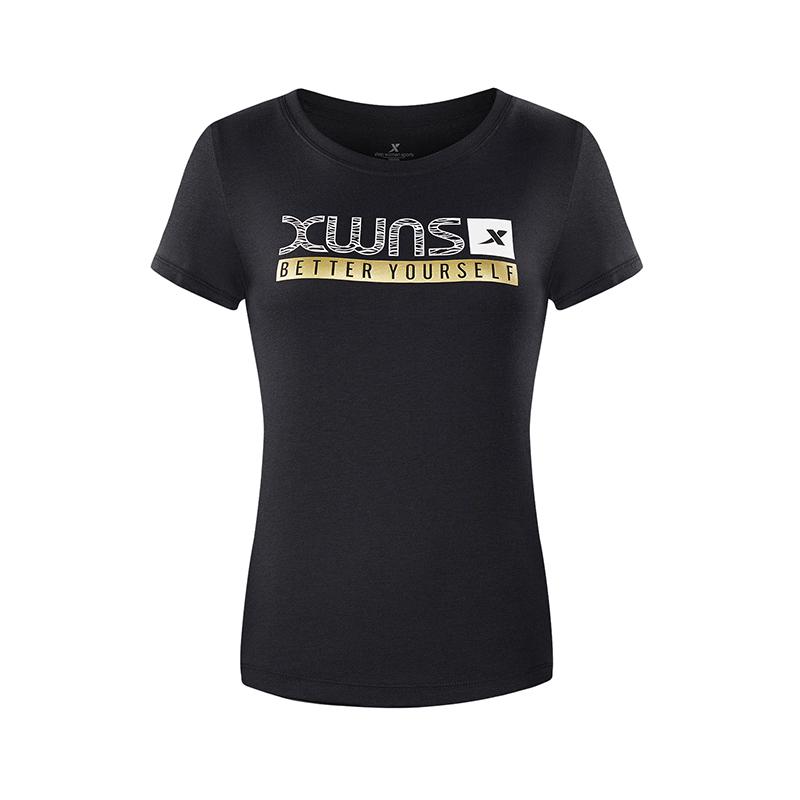 特步 专柜款 女子户外运动舒适轻便综训短袖T恤982228012086