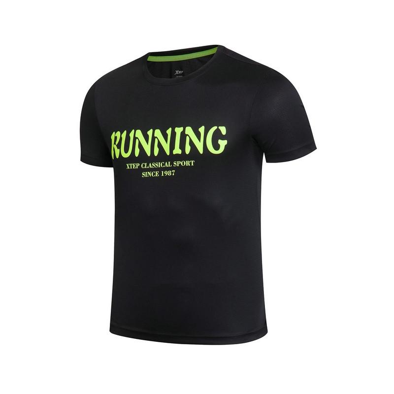 特步 男子运短袖17夏季新款 轻盈透气健身男上衣883129019038