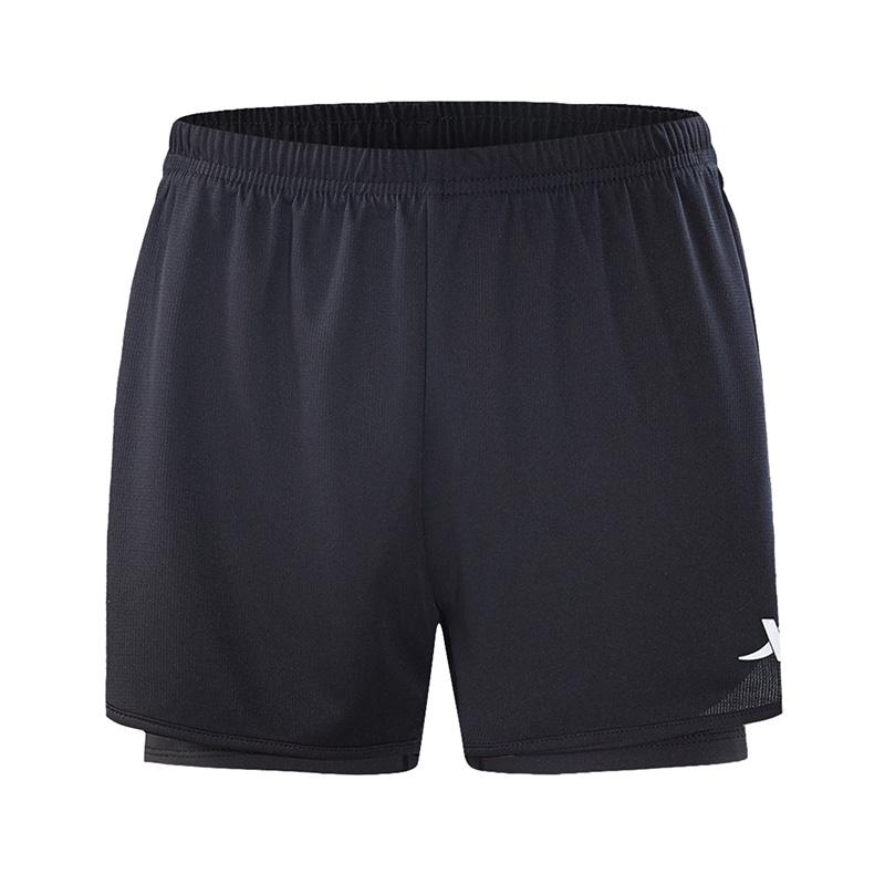 特步 专柜款 女子短裤2018夏季新品简约时尚梭织女运动短裤户外健身跑步裤982328600108