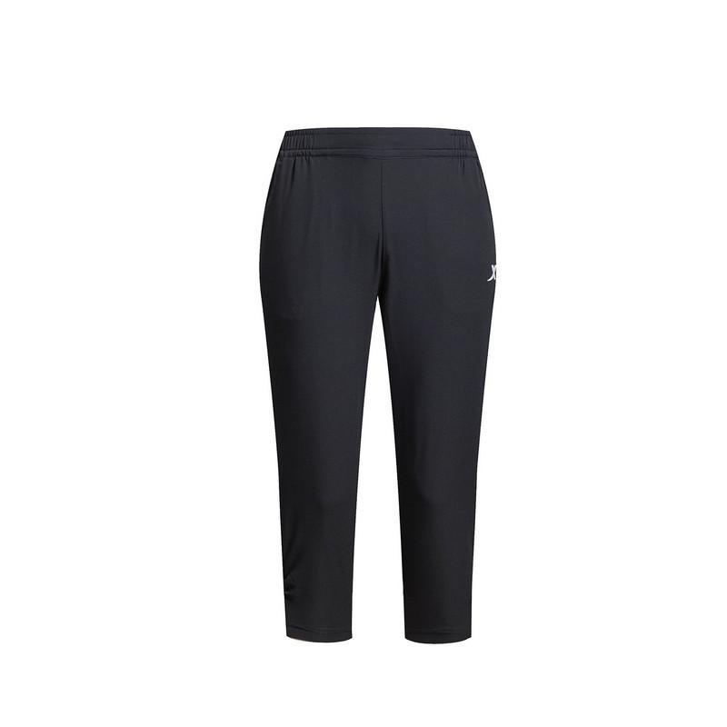 特步 女子夏季七分裤 运动舒适 女子梭织七分裤983228800018