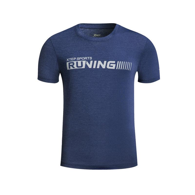 特步 男子春夏T恤 跑步运动短袖针织衫882129019157