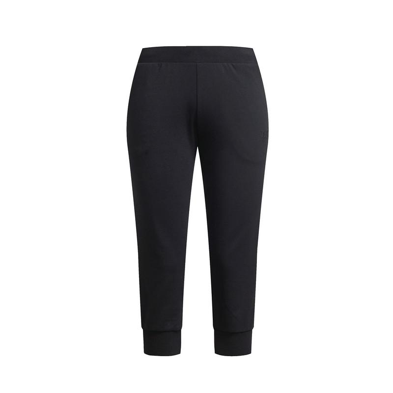 特步 专柜款 女针织长裤17夏季新品 训练休闲透气女子七分裤983228620228