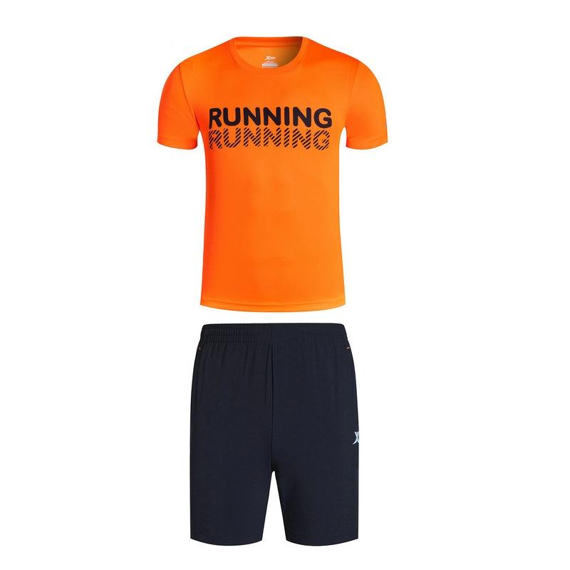特步 男子夏季跑步套装 17新品 舒适透气 男子套装883229959351