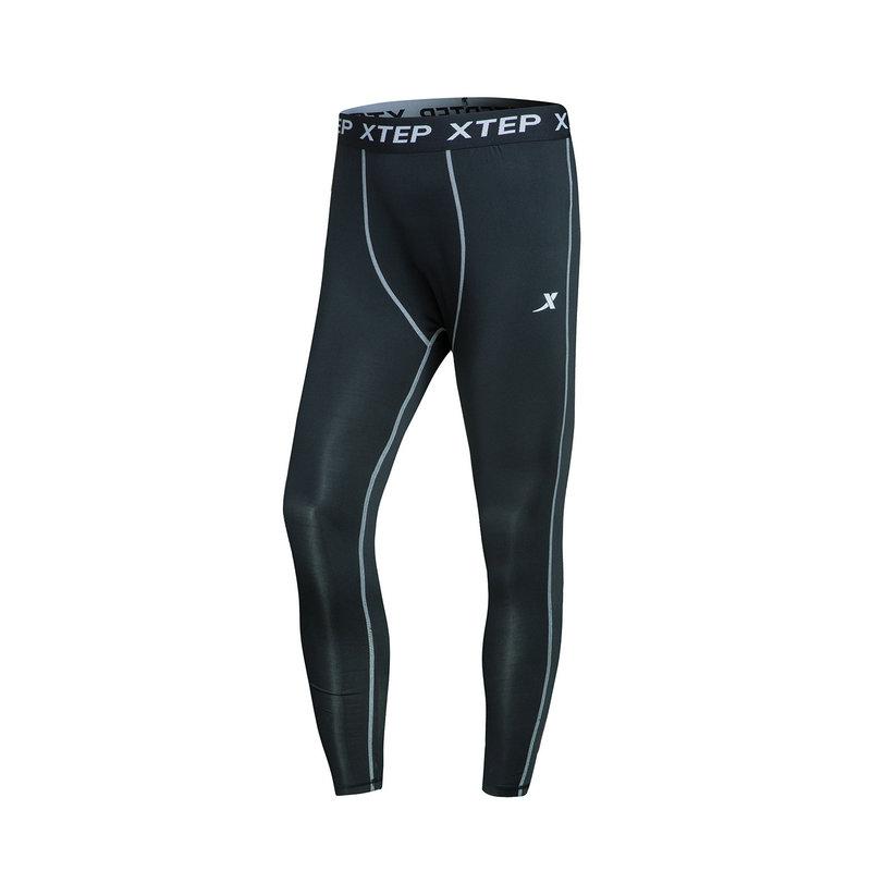 特步 男子紧身裤春季款 跑步弹性舒适运动健身裤882129789297