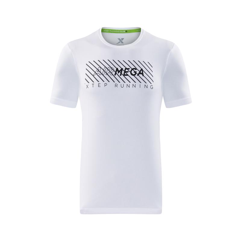 特步 专柜款 男子运动跑步T恤舒适透气针织衫982229012219