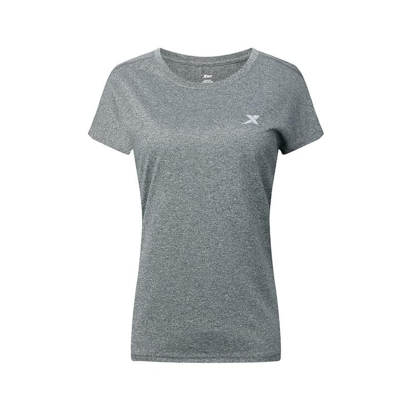 特步女子短袖春季休闲运动上衣圆领舒适运动短T882228019340