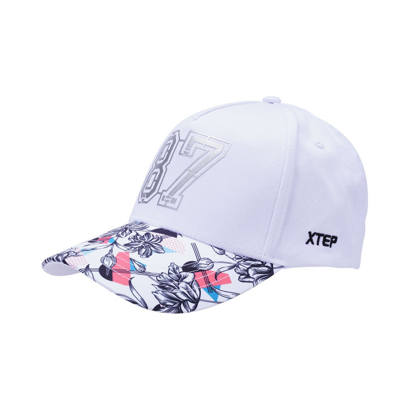 特步 男女运动帽 四季街头花纹字母帽子882237219011