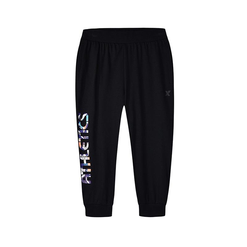 特步 专柜款 女子夏季运动健身短裤七分裤982228620255