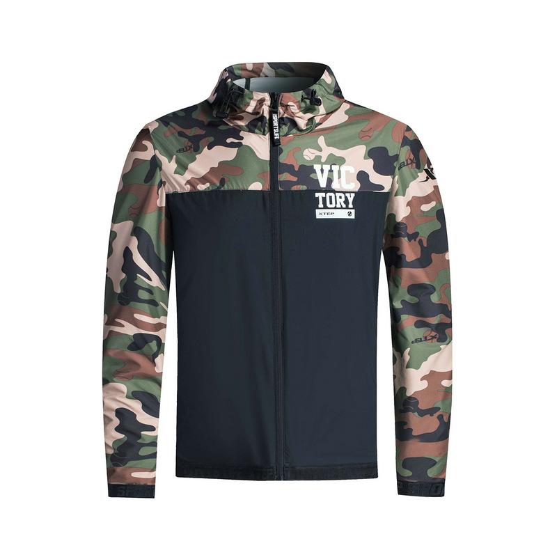 【明星同款】特步 专柜款 男子单夹克 迷彩潮流风衣外套983329110067