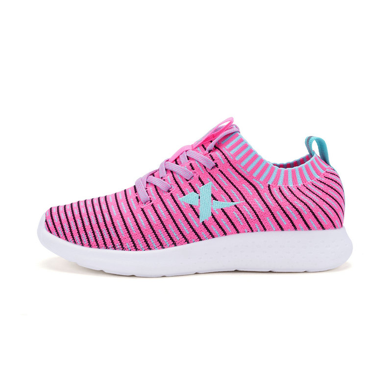 特步 女童春季跑鞋 大童学生一体织跑鞋682114119773
