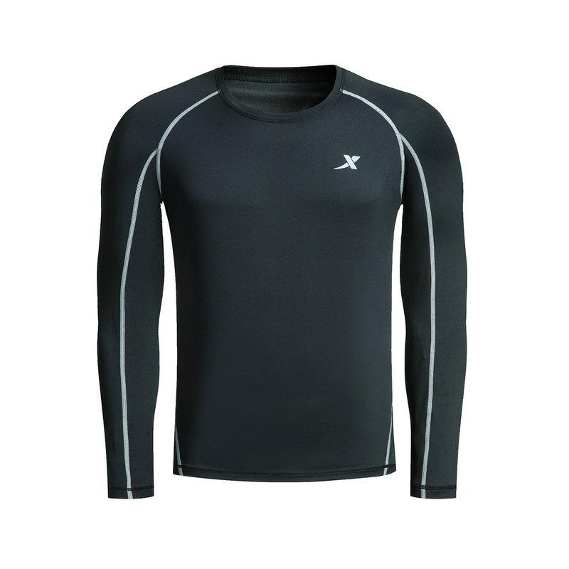 特步 男子紧身衣春季款 跑步保暖弹性运动健身衣882129799295