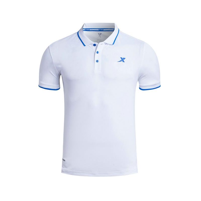 特步 专柜款 男子夏季POLO衫 17新品 纯色百搭男上衣983229021002