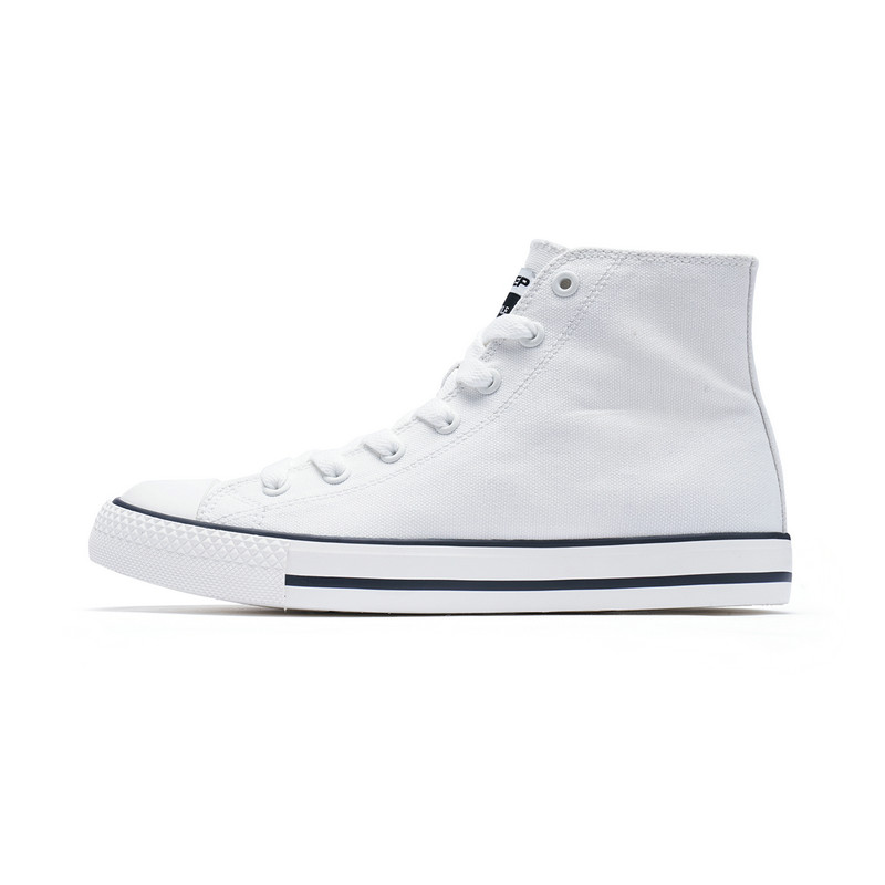 特步 女子帆布鞋 高帮轻便时尚青春活力休闲鞋983418109606