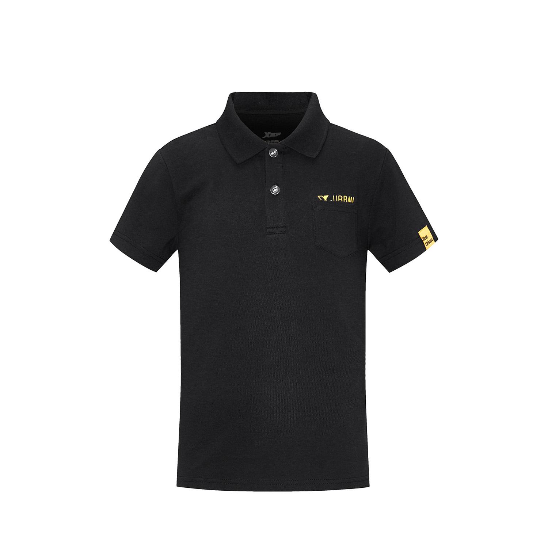 特步 男童夏季POLO衫 纯色T恤衫中大童短袖T恤882225029178